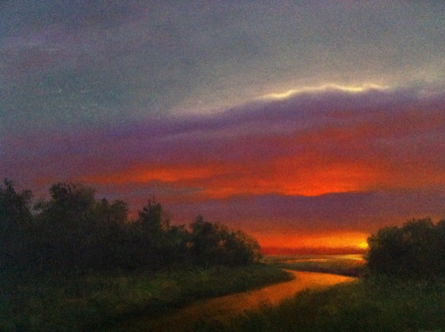 mississippi sunset oil painting