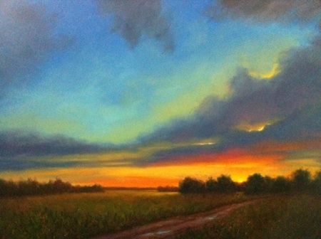 mississippi sunset painting