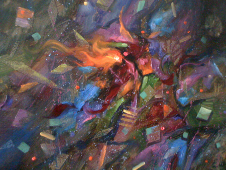 abstract paintings of love. abstract oil painting. I love