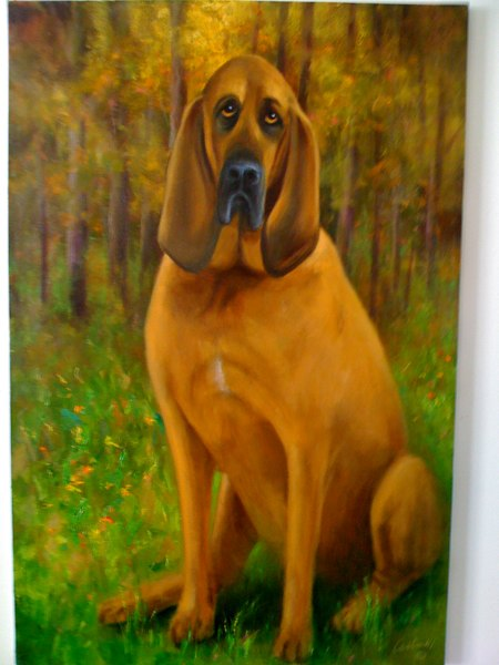 hound dog painting