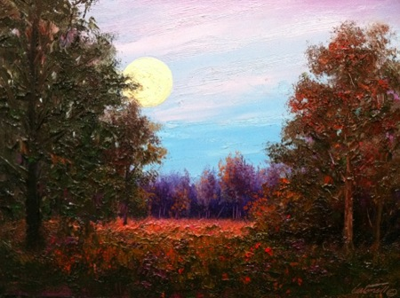 moonscape oil painting