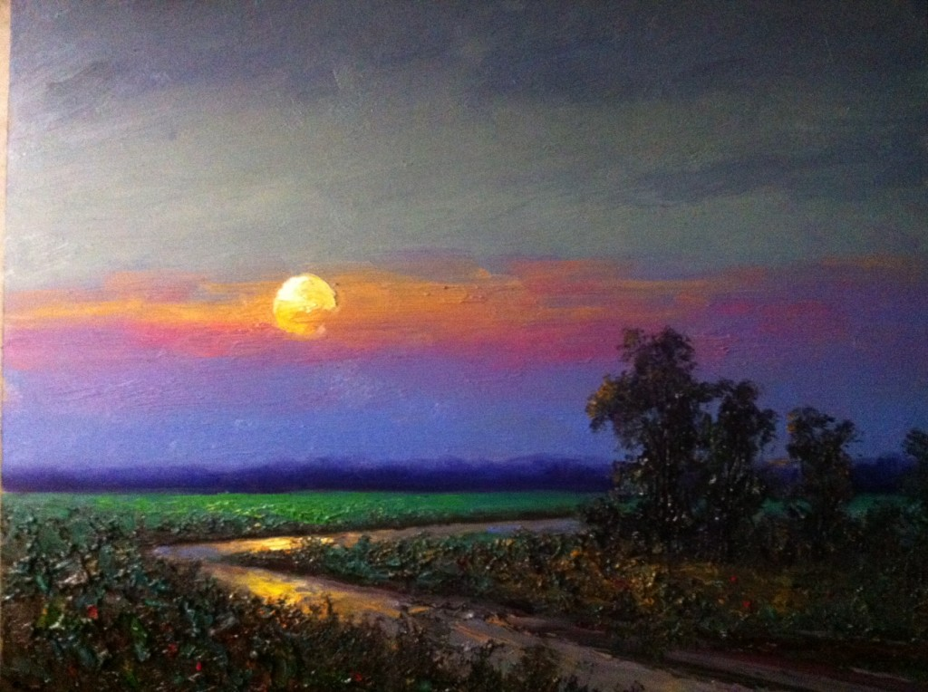 Abstract Sunset Oil Paintings