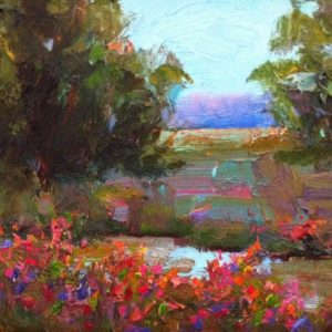 edge of the creek painting