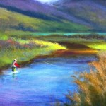 fly fishing painting