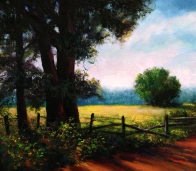 Morning Light Plein Air Oil Painting