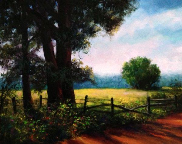 plein air oil painting