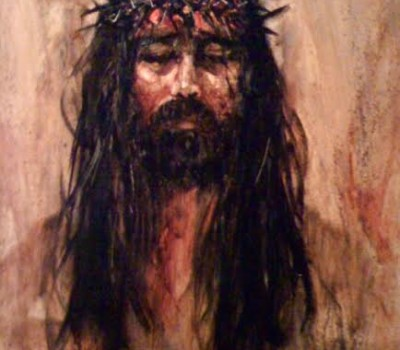 Head of Christ Oil Painting