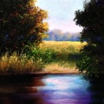 By The Creek Oil Painting