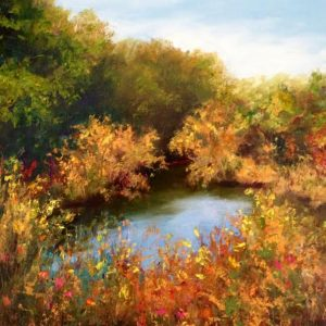 fall creek oil painting