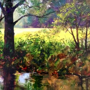 Summer Creek Oil Painting