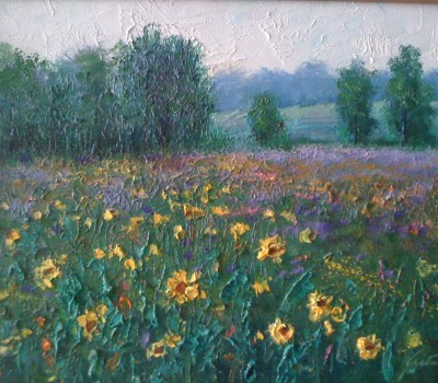 Sunflower Field Painting
