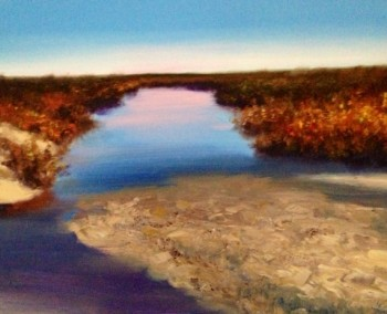 Alabama Saltwater Marsh Painting