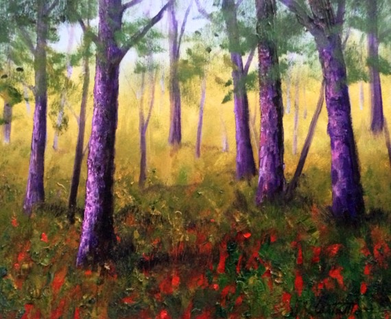 Beautiful Pines of Mississippi Painting