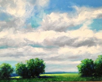 Cloudscape Oil Painting