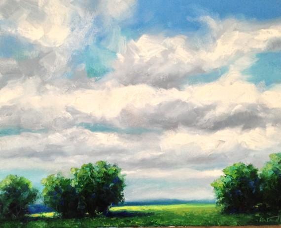 Cloudscape Oil Painting