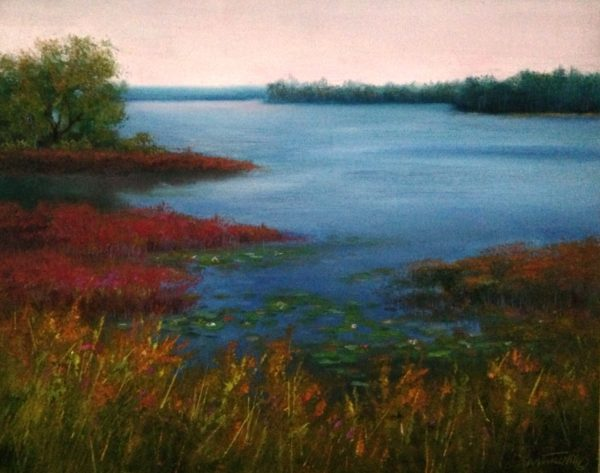 Edge of the Bog Oil Painting