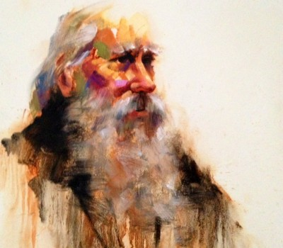 Old Man Character Study Painting