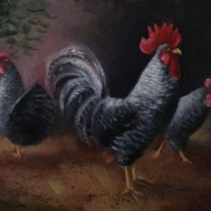 Rooster Chickens Painting