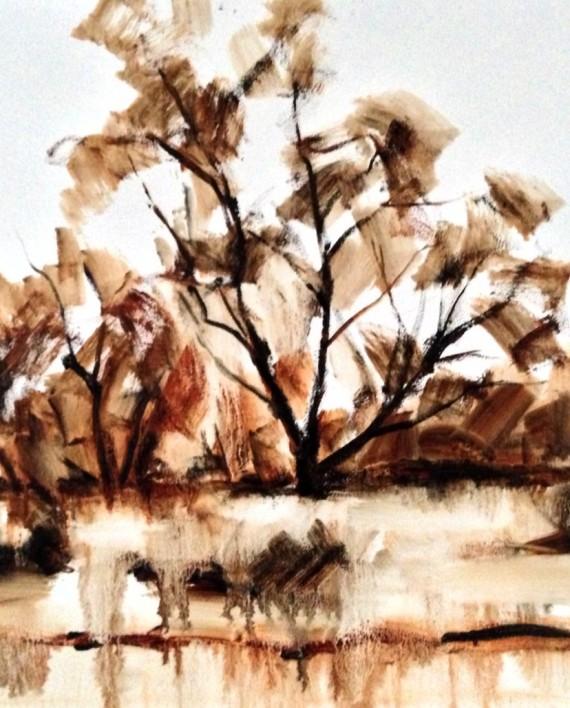 Tree Study Oil Painting