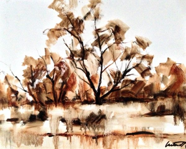 Tree Study Oil Painting