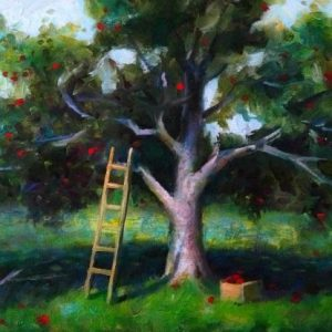 Apple Orchard Oil Painting