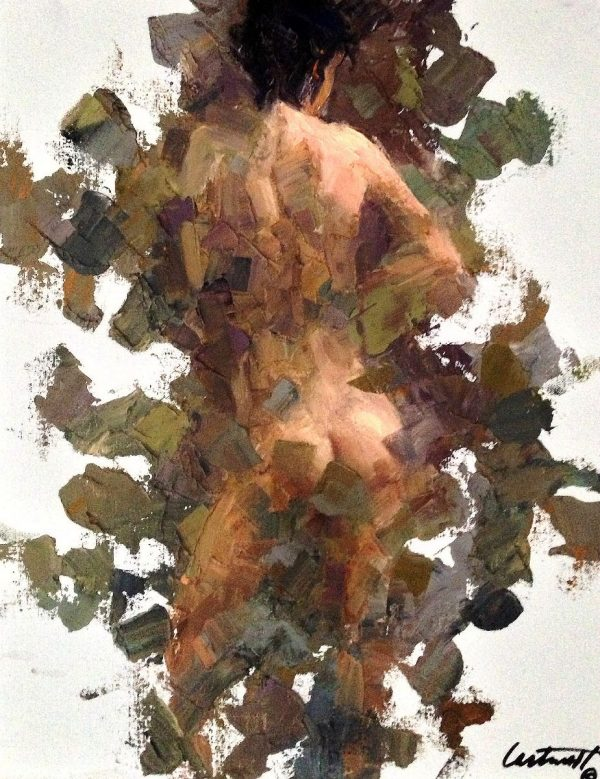 Neutral Nude Oil on Panel