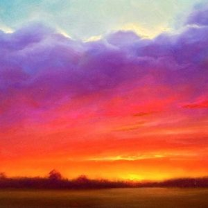 Delta Sunset Oil Painting