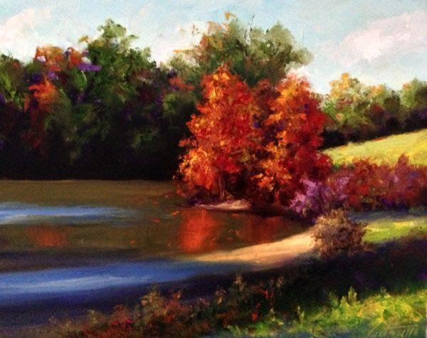 November Pond Oil Painting