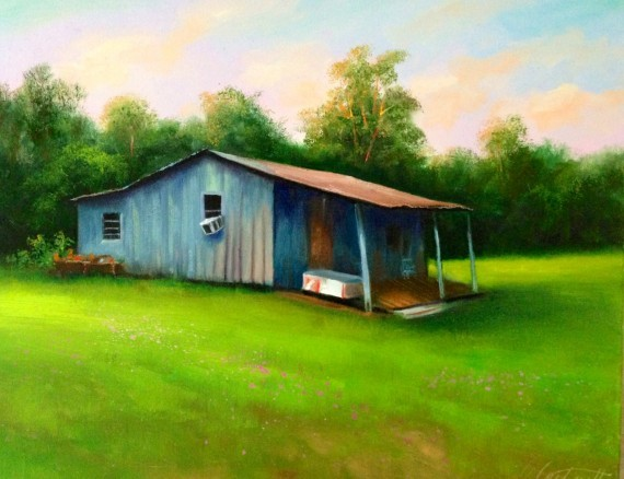 Shack Oil Painting