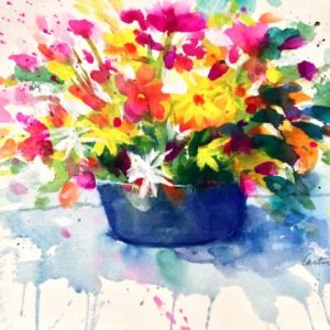 Watercolor Bouqet Painting