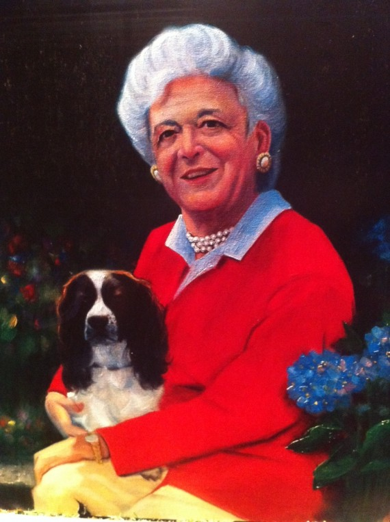 Barbara Bush Painting