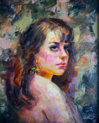 Gypsy Oil Painting Portrait