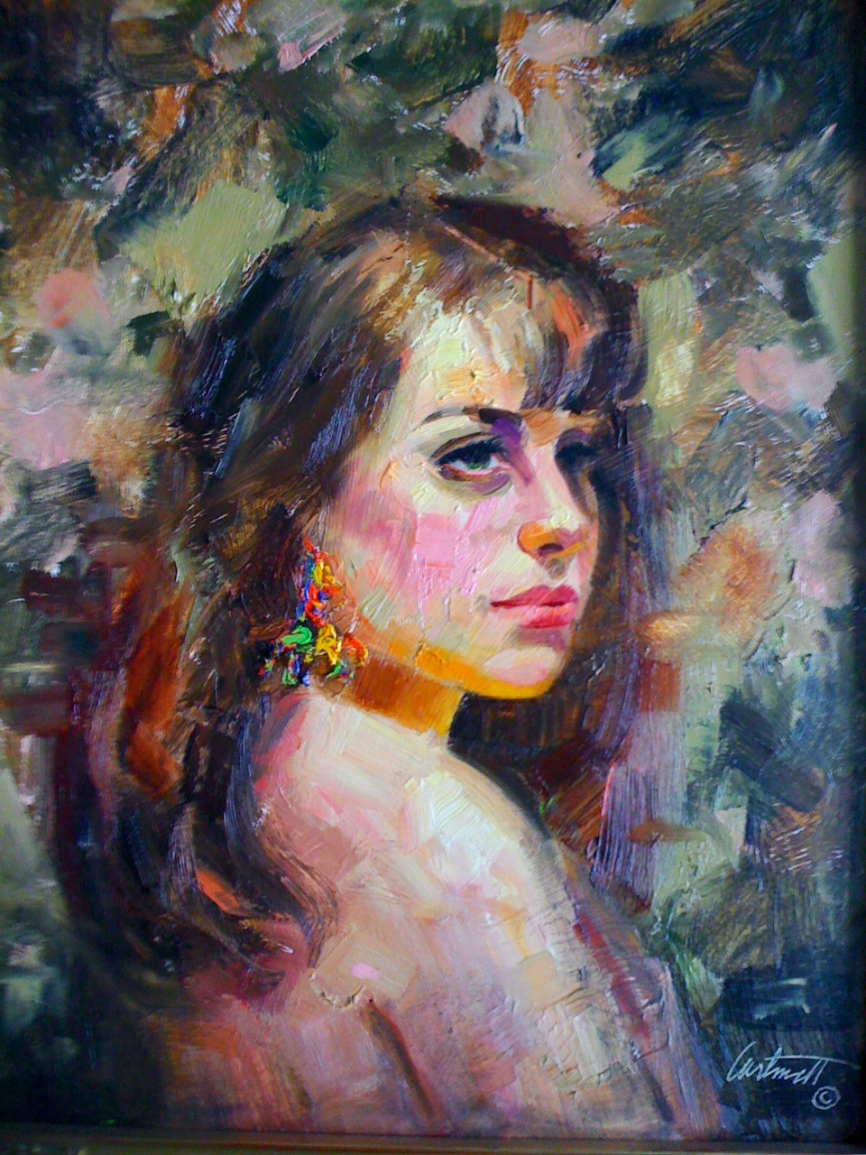 Spanish Woman Oil Painting