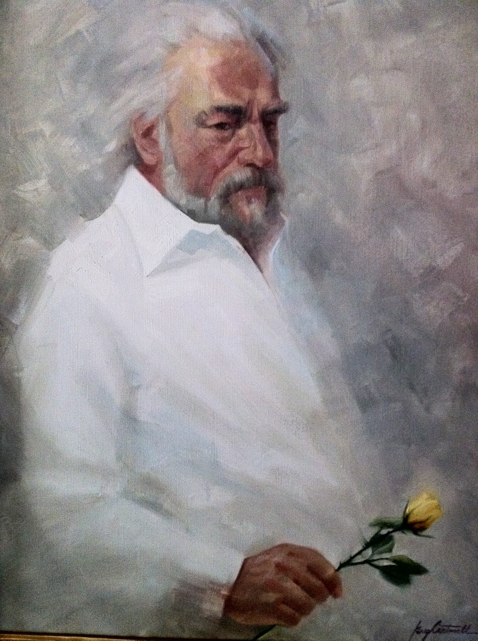 Joe With A Rose Painting