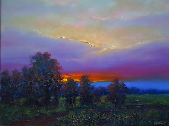 Last Light Oil Painting