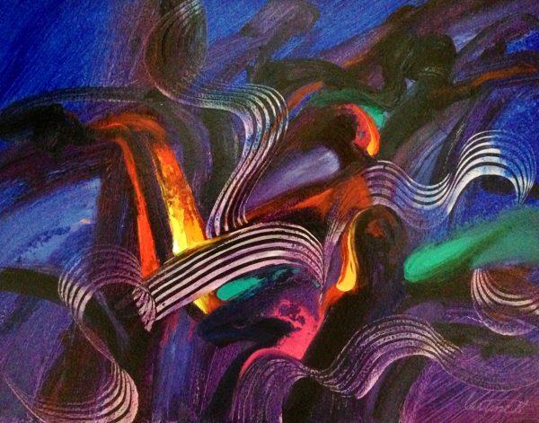 Miles Davis Abstract