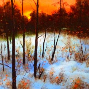 New England Winter Oil Painting