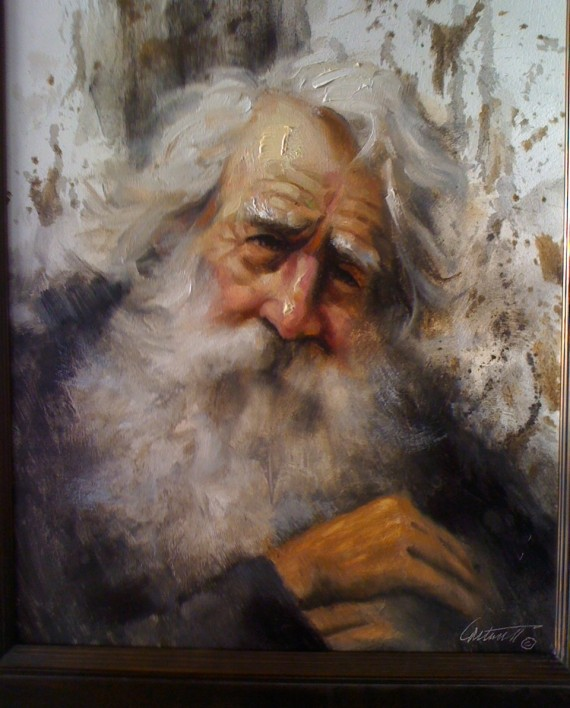 Old Philosopher Oil on Canvas