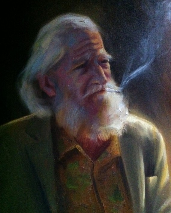 The Traveling Man Oil on Canvas