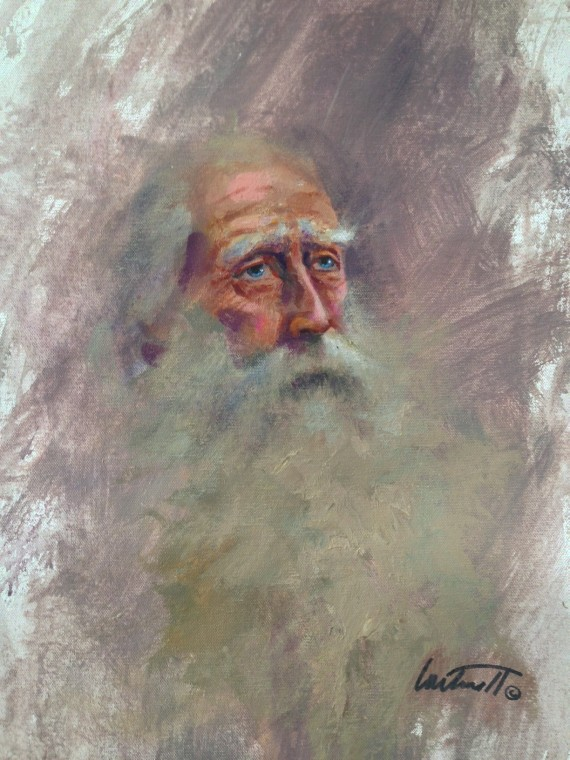 Wise Old Man Painting