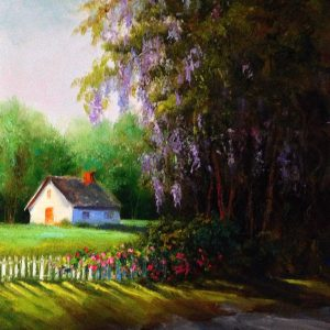 Wisteria Road Mississippi Painting