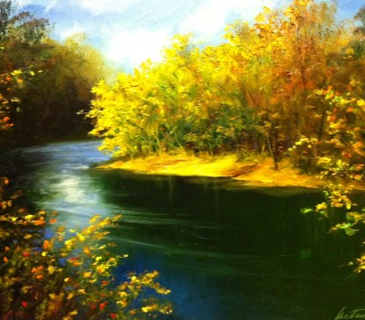 The Chunky River Oil Painting