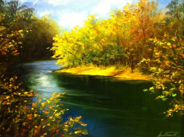 Chunky River Oil Painting