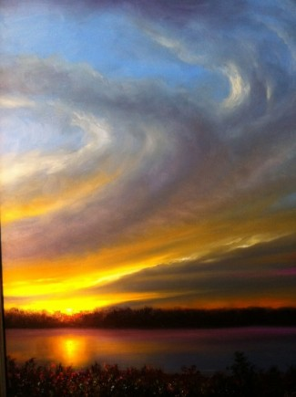 Okatibbee Sunset Oil Painting