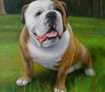 Sylvester Croom Martin Pet Portrait Painting