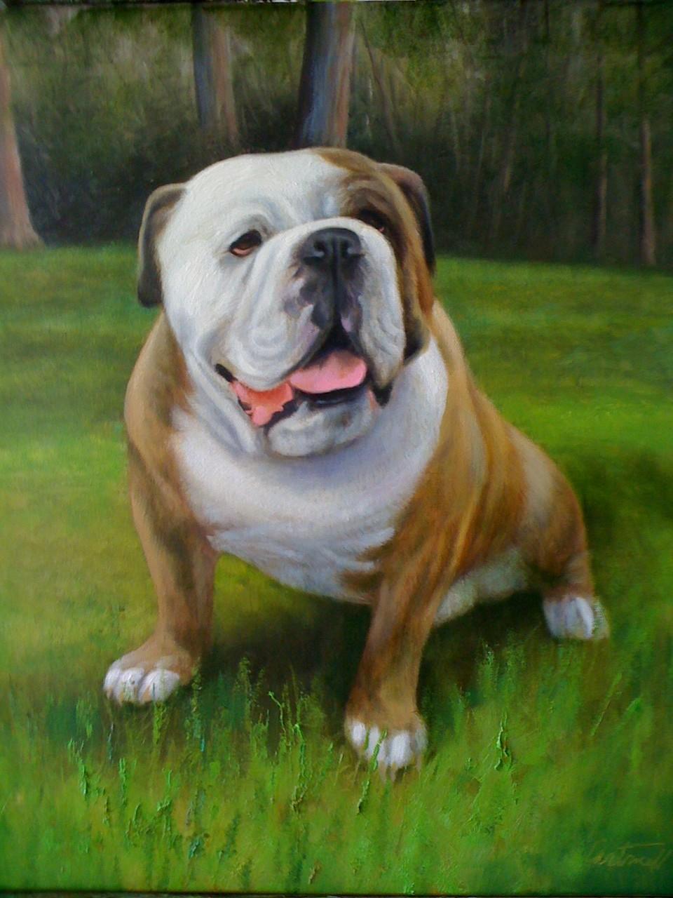 Sylvester Croom Martin Pet Portrait Painting