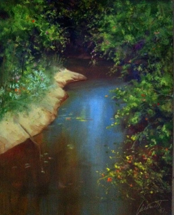 The Creek Oil on Panel
