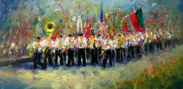 Italian Marching Band Painting