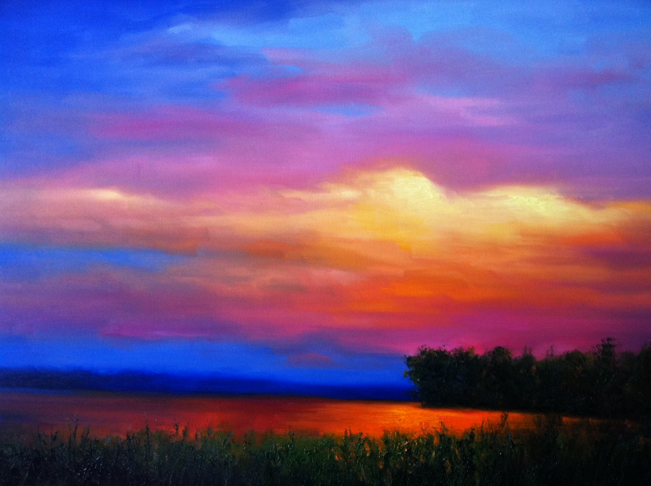 Okatibbee Clouds Evening Painting
