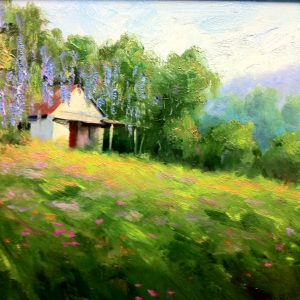 Azalea Shack Oil Painting
